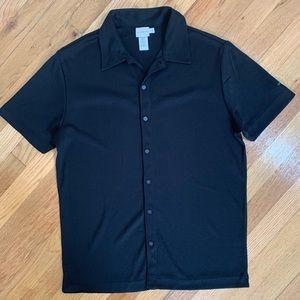 Vintage Y2K Calvin Klein polyester camp shirt GUC